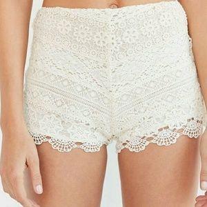 Kimchi Blue White Crochet Shorts
